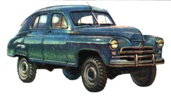 ГАЗ М72 предназначался для эксплуатации в сельской местности