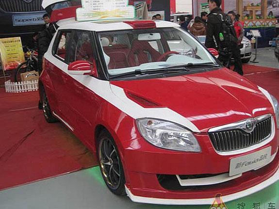 Тюнинг Skoda Fabia изменил в основном внешние характеристики автомобиля